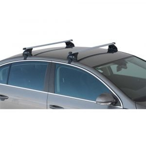 image of prorack p-bar roof racks installed on a car