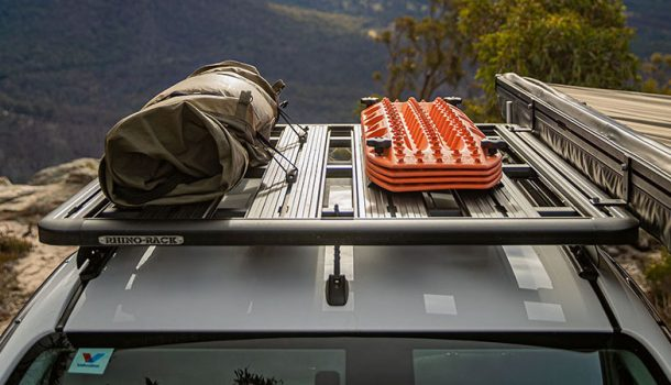 image of some gear on a roof rack