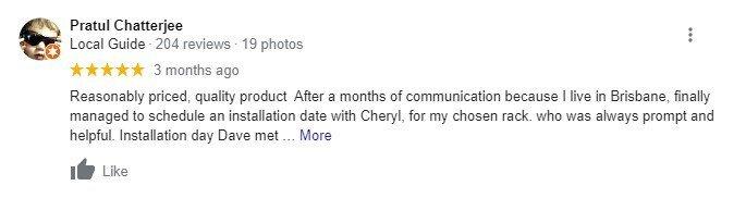 screenshot of a google review