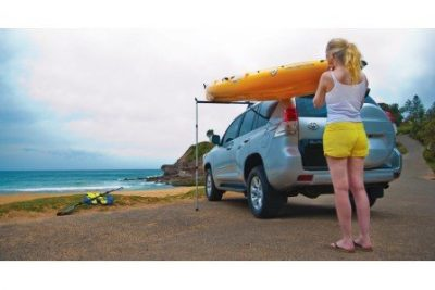 image of someone loading their canoe or kayak with a lift assist loader