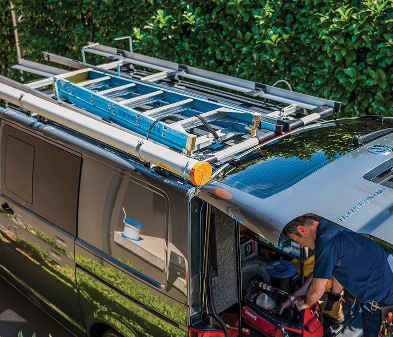 Prevent ladder accidents with a roof rack