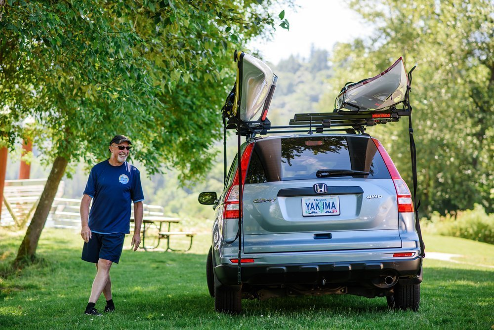 Have a Kayak or a canoe? The difference between a roof rack and a watercraft carrier.